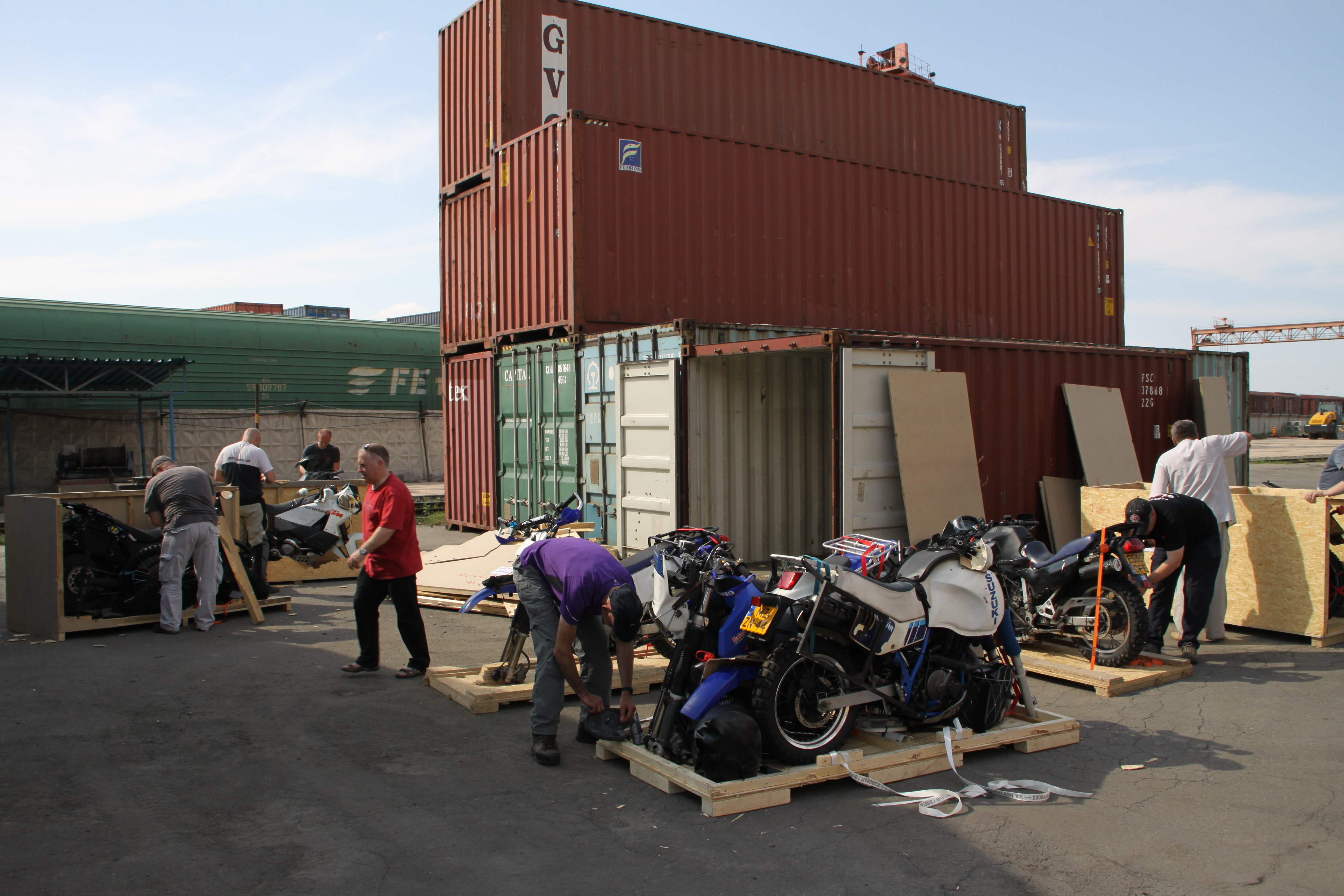 Unpacking the bikes